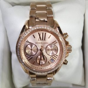 Michael Kors Ritz Rose Gold With Stones Copper Chronograph Women Watch Price In Pakistan