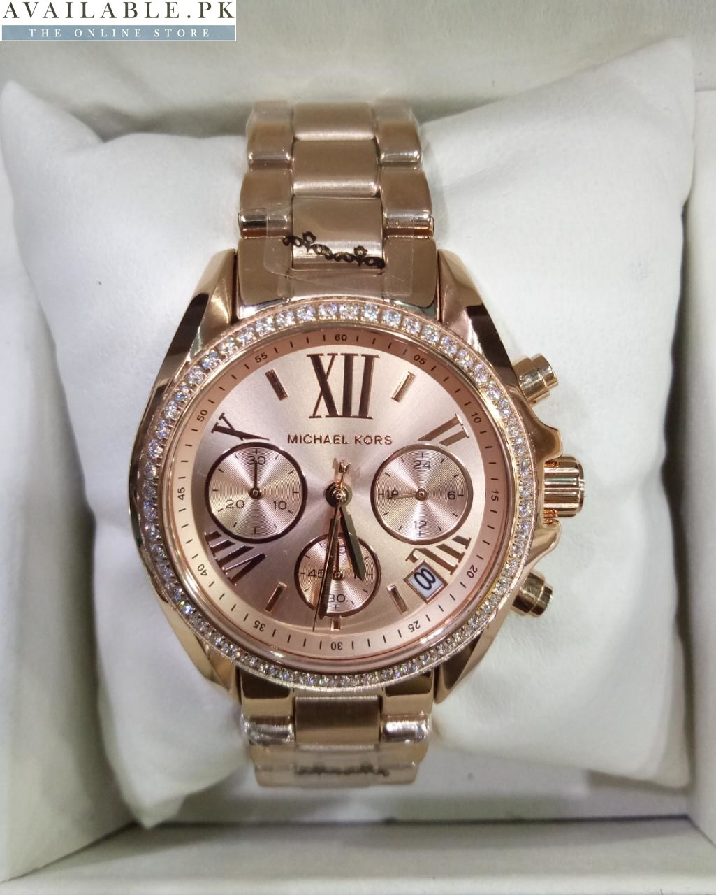b6ff9017dc51 Michael Kors Ritz Rose Gold With Stones Copper Chronograph Women Watch  Price In Pakistan