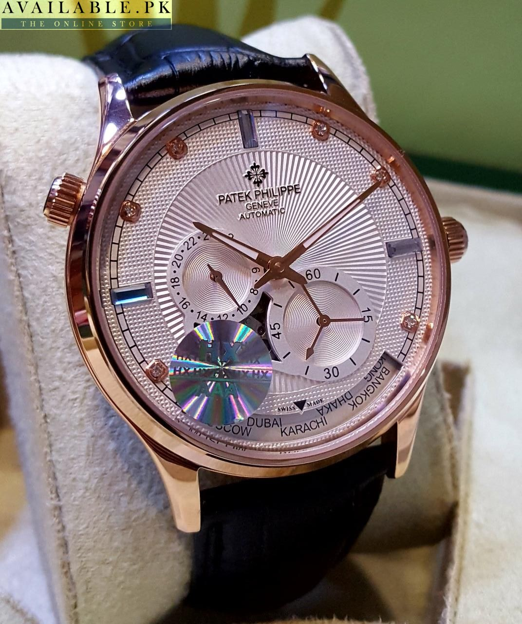 Patek Philippe Geneve World Time Chronograph Automatic Men S Watch