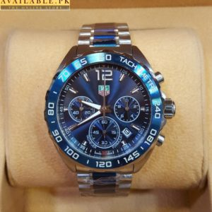 Tag heuer Formula 1 Silver Blue Chronograph Men's Watch Price In Pakistan