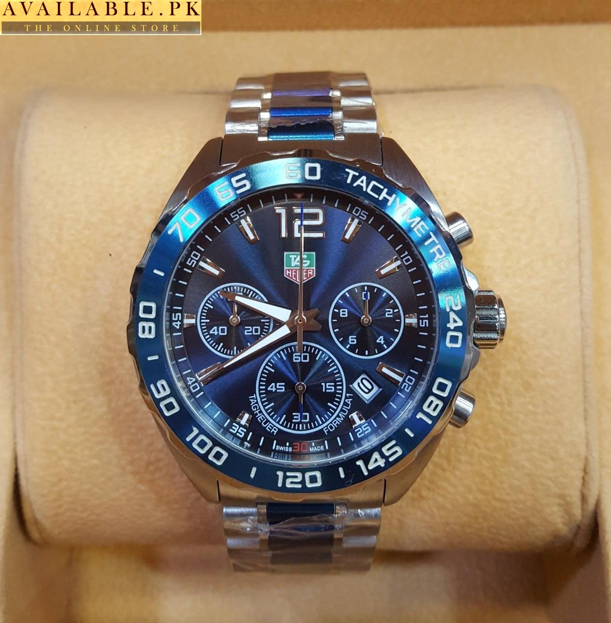 827479c7d16 Tag heuer Formula 1 Silver Blue Chronograph Men's Watch Price In Pakistan