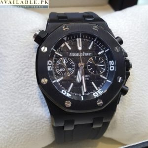 Audemars Piguet Chronometer Matt Black Men's Watch Price In Pakistan
