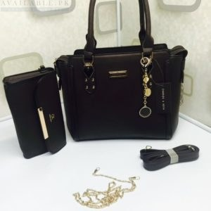 Charles & Keith Black 2in1 Boxy Trapeze Women's handbag Price In Pakistan