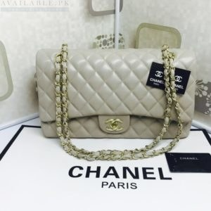 Chanel Large Classic Flap Pearl White Caviar Leather Shoulder Bag Price In Pakistan