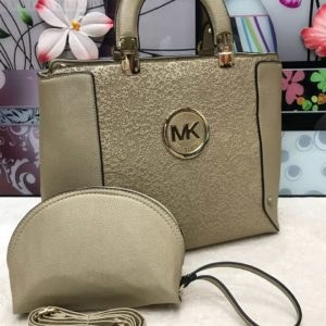 MK Michael Kors Dull Golden 2 in 1 Women's Handbag Price In Pakistan