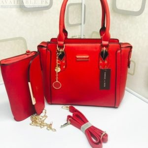 Charles & Keith Red 2in1 Boxy Trapeze Women's handbag Price In Pakistan