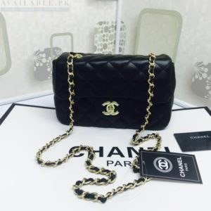 Chanel Black Medium Classic Flap Caviar Leather Shoulder Bag