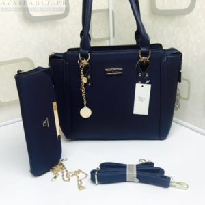 Charles & Keith Navy Blue 2in1 Boxy Trapeze Women's handbag Price In Pakistan