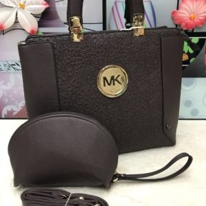 MK Michael Kors Dark Chocolate 2 in 1 Women's Handbag