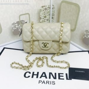 Chanel Pearl White Medium Classic Flap Caviar Leather Shoulder Bag Price In Pakistan