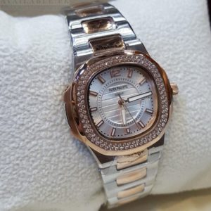 Patek Philippe Golden Nautilus Black Dial & Date Women's Watch Price in Pakistan