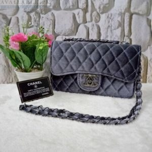 Chanel Grey Women's Cross Body HandBag