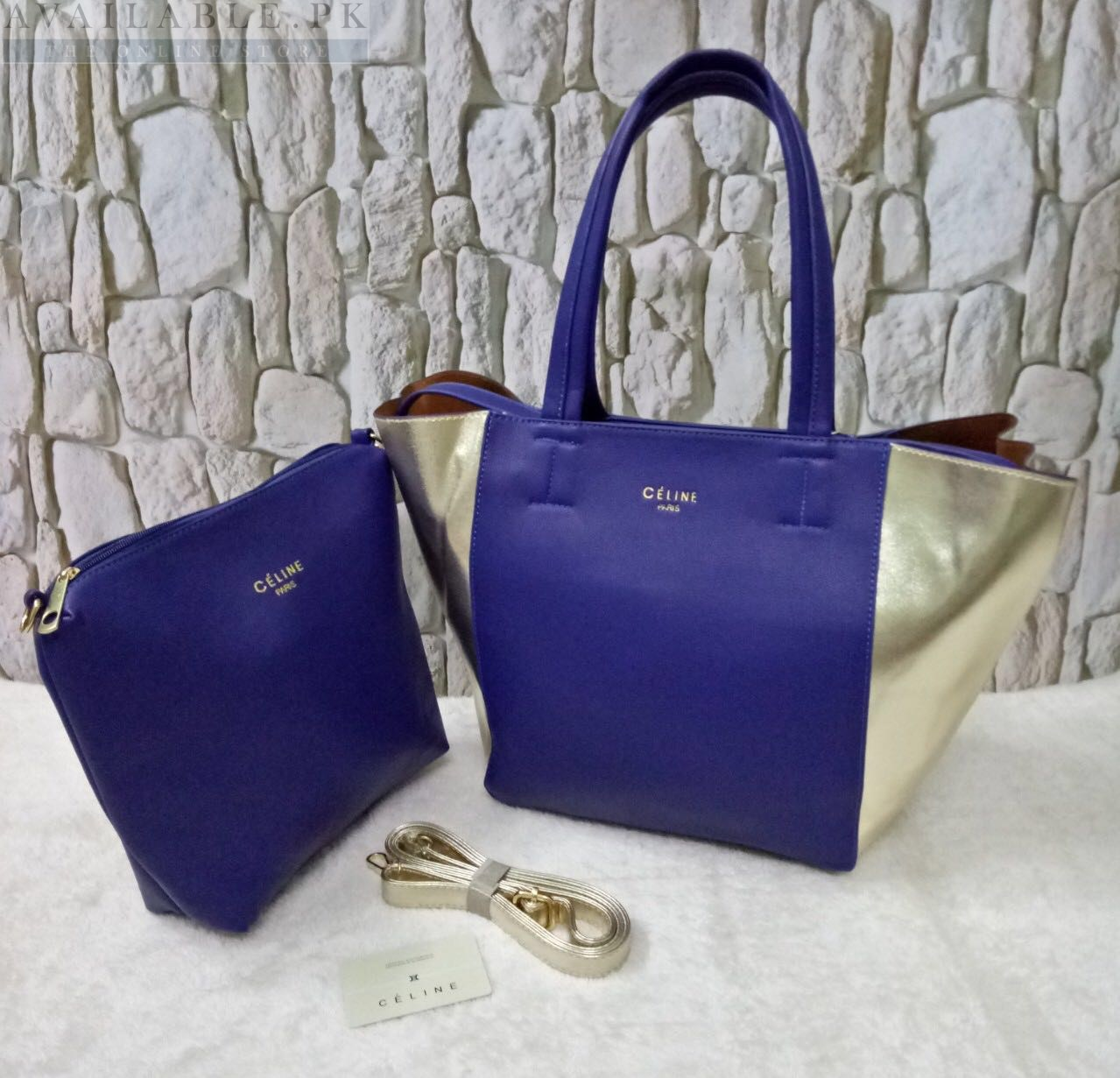 856c8fd7c146 Celine Blue 2 in 1 Women s Hand Bag Price In Pakistan