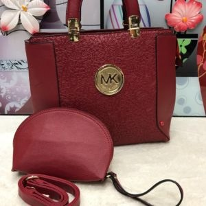 MK Michael Kors Maroon 2 in 1 Handbag for Her