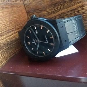 Hublot Black Magic Automatic Date Display Leather Belt Men's Watch Price In Pakistan