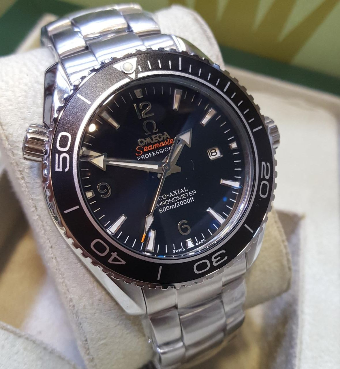 Omega the speedmaster planet ocean automatic men 39 s watch avl for Omega watch speedmaster