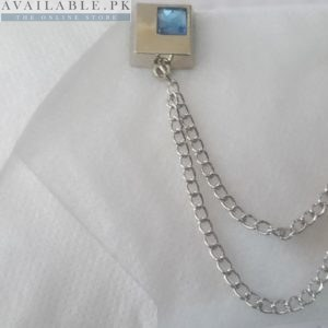 Buy Lapel Pin Men's Suiting Chain With Blue Stone In Pakistan