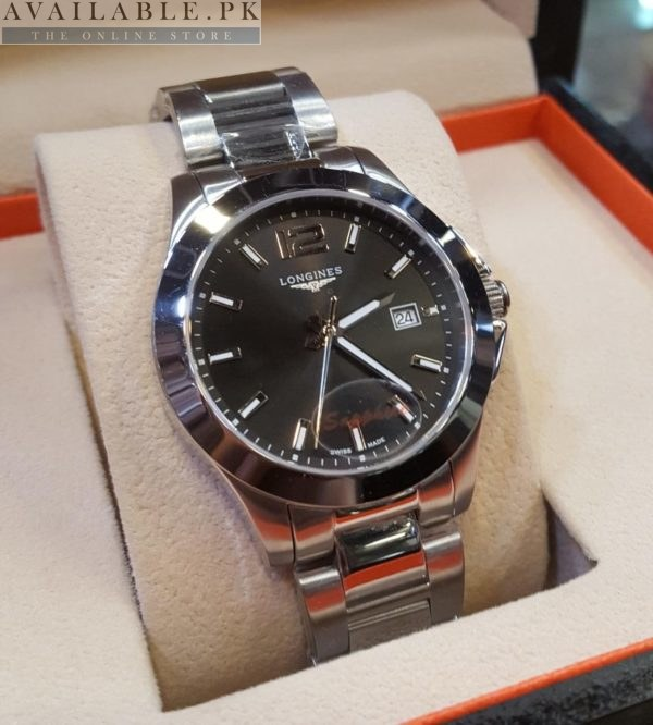 Longines Black Dial Sapphire Glass His Watch Price In Pakistan