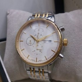 Tissot Rose Gold & Silver Chronograph Men's Watch Price In Pakistan