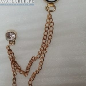 Lapel Pin Golden Chain Artificial Clock In Pakistan