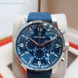 Montblanc Chronograph Sea Blue Men's Watch Price In Pakistan