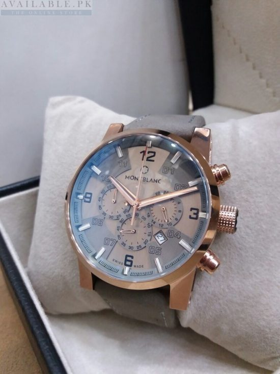 Montblanc Chronograph Rose Gold Bezel Men's Watch Price In Pakistan