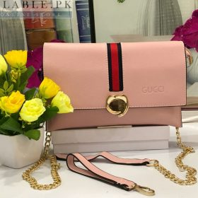 Fendi Light Pink Cross Body Purse With Long Chain Price In Pakistan