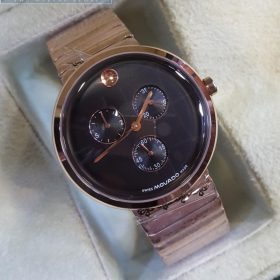 Movado Dull Golden Chronograph Men's Watch Price In Pakistan