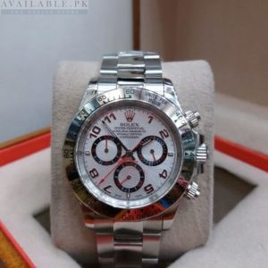 Rolex Deep Silver Edition Chronograph White Dial Men's Watch