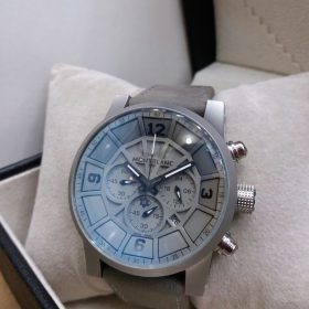 Montblanc Grey Dial Chronograph With Leather Belt Men's Watch Price In Pakistan