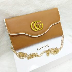 Gucci Cream Brown Dual Style Cross Body Bags+Hand Clutch Price In Pakistan