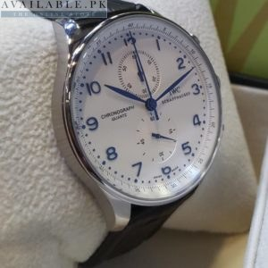 IWC schaffhausen White Dial Japanese Chronograph Men's Watch