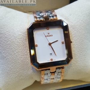 Rado Florence Dual Tone White Dial With Date Men's Watch Price In Pakistan