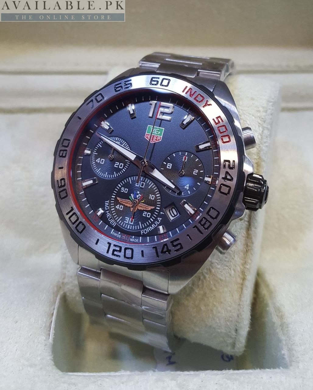 Tag Heuer Black Dial Indy 500 F1 Sporty Edition Men Watch