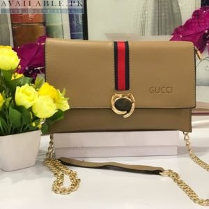 Fendi Light Brown Cross Body Purse With Long Chain Price In Pakistan