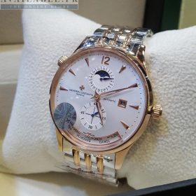 Vacheron Constantin Dual Tone World Time MoonPhase Automatic His Watch Price In Pakistan