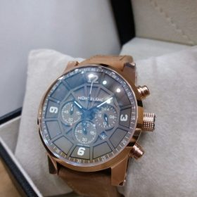 Montblanc Brown Dial and Belt Chronograph Men's Watch Price In Pakistan