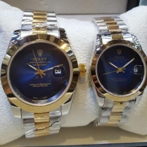 Rolex Smooth Bezel Blue Dial Couple Package Watches Price In Pakistan
