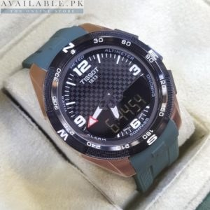 Tissot Analog & Digital With Altimeter Compass Alarm Timer Green Watch Price In Pakistan