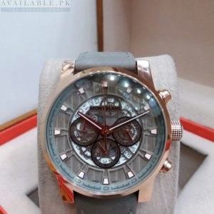 Montblanc Chronograph Rose Gold Bezel Grey Belt Men's Watch Price In Pakistan