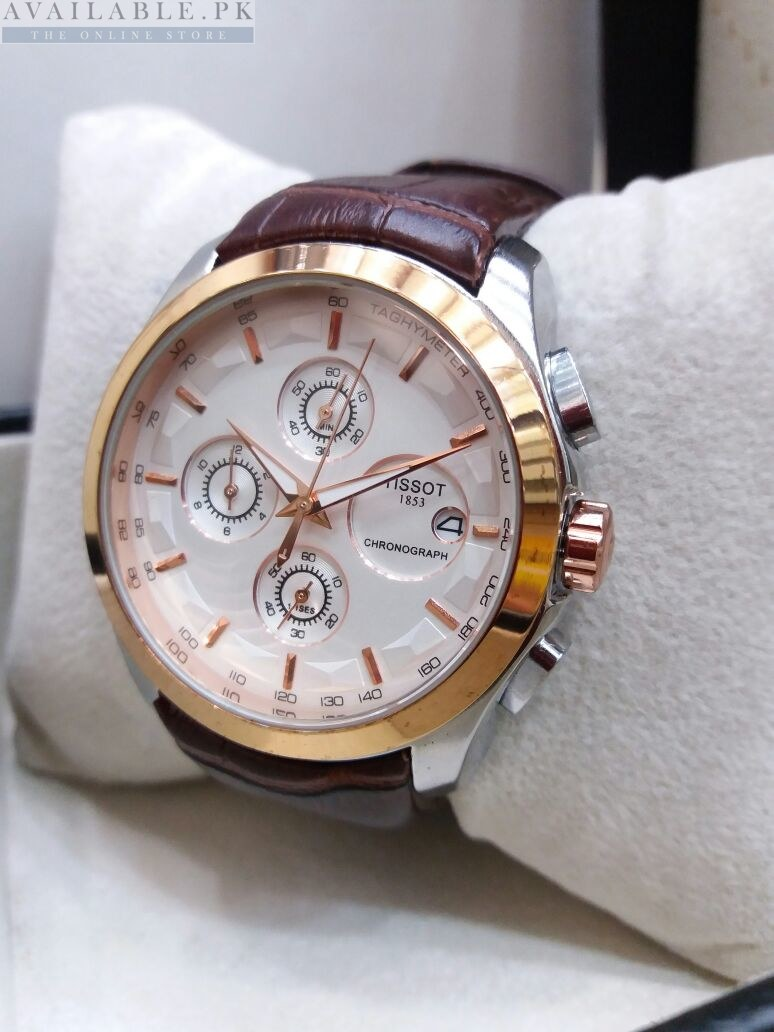 c7a1f6e5480 Tissot White Edition Chronograph Men's Watch Price In Pakistan | AVL