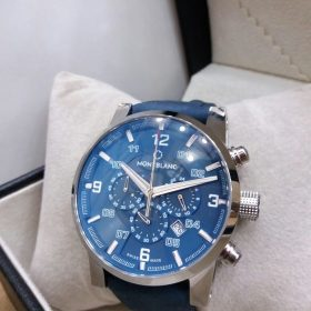 Montblanc Chronograph Galaxy Blue Dial & Belt Men's Watch Price In Pakistan