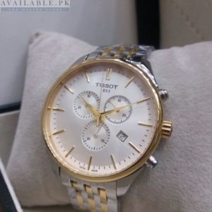 Tissot Golden & Silver Chronograph Men's Watch Price In Pakistan