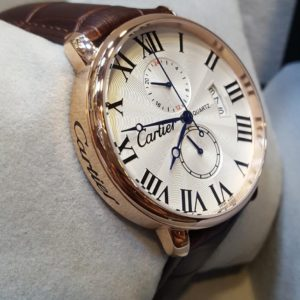 Cartier Twin Chrono Roman Digits Leather Belt Men's Watch Price In Pakistan