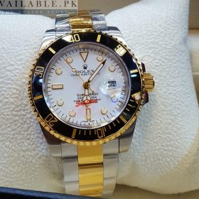 Rolex Oyster Perpetual White Dial Silver Tone Men's Watch Price In Pakistan