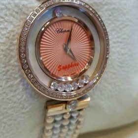 Chopard Hover Pink Dial With Stones Women's Watch Price In Pakistan