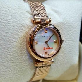 Gucci Gonden Plated White Dial With Sapphire Glass Women's Watch Price In Pakistan