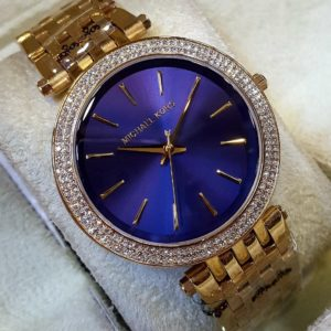 Michael Kors Golden Chain Royal Blue Dial Women's Watch Price In Pakistan