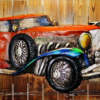 HSK Art - Rolls Royce Modern Art Wood Work Wall Painting In Pakistan