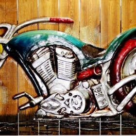 HSK Art - V Rod Modern Art Wood Work Wall Painting In Pakistan